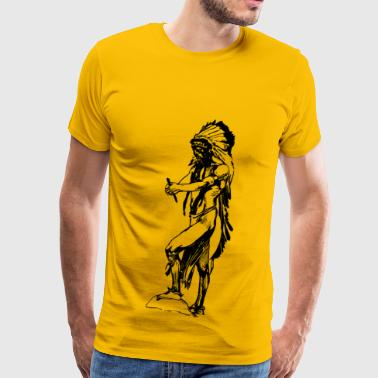 Native American 1912 - Men's Premium T-Shirt
