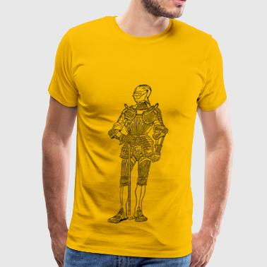 suit of armor front - Men's Premium T-Shirt