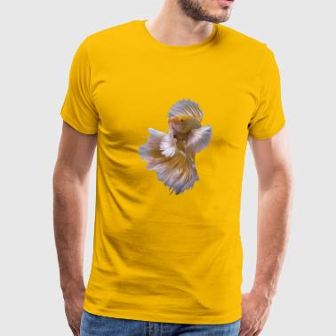 yellow siamese fighting fish - Men's Premium T-Shirt