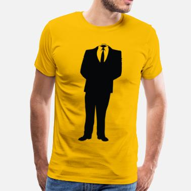 We Are Anonymous Suit Anonymous Man In Suit - Men's Premium T-Shirt