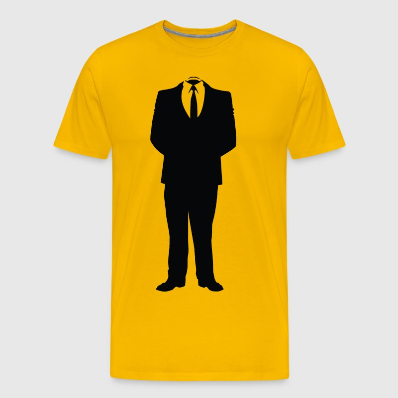 Anonymous Man In Suit - Men's Premium T-Shirt