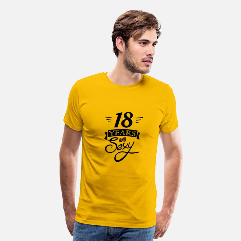 Eighteen T-Shirts - 18 years and sexy - Men's Premium T-Shirt sun yellow