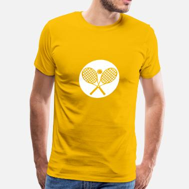 Tennis Logo tennis racket ball logo 1 - Men's Premium T-Shirt