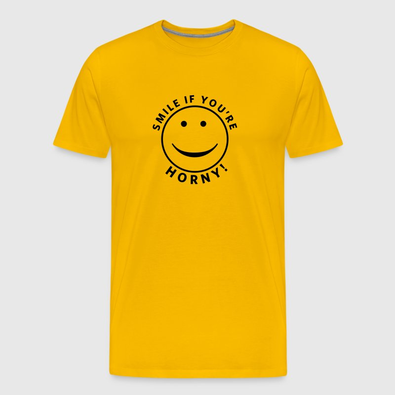 Smile if you're horny! - Men's Premium T-Shirt