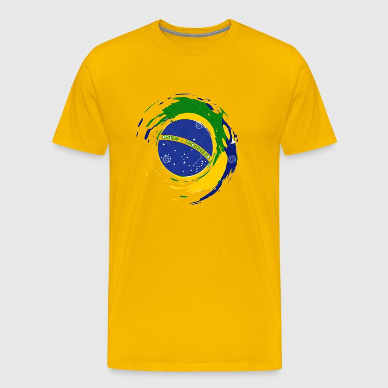 brazil flag design - Men's Premium T-Shirt