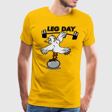 Leg Day Funny Chichen - Men's Premium T-Shirt