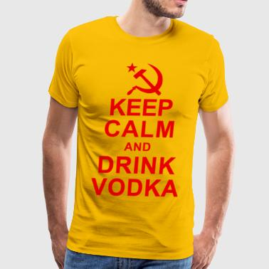 Keep Calm Drink Vodka Keep Calm and Drink Vodka - Men's Premium T-Shirt