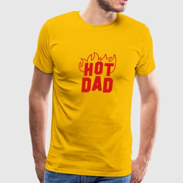 Hot Dad hot DAD with fire red - Men's Premium T-Shirt