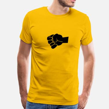Clenched Fist clenching fist large - Men's Premium T-Shirt