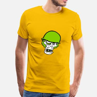 Go Army soldier helmet military army war zombie run go ugl - Men's Premium T-Shirt
