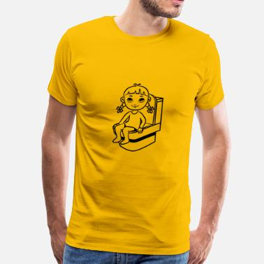 Pooping Wc wc little girl - Men's Premium T-Shirt