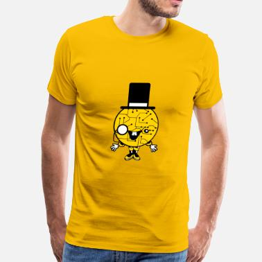 Gentlemen Geek robot sir mr gentlemen cylindrical hat glasses mon - Men's Premium T-Shirt