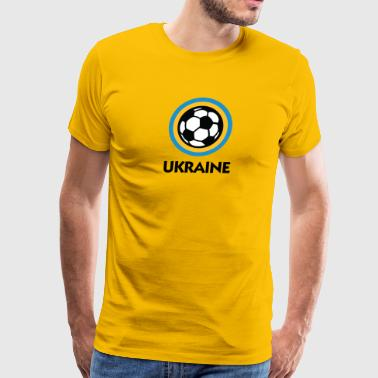 Ukraine Football Emblem - Men's Premium T-Shirt