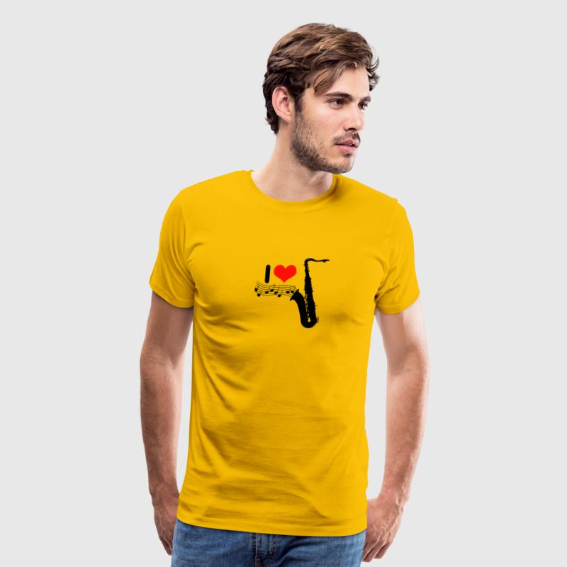 I love saxophone / Jazz - Men's Premium T-Shirt