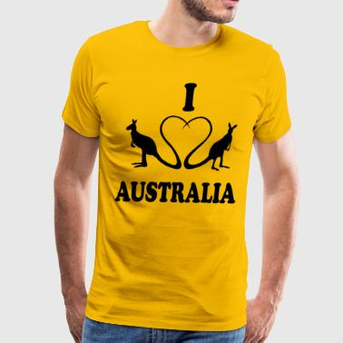 I love Down Under - Men's Premium T-Shirt