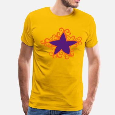 Curling Kids star with outer curls - Men's Premium T-Shirt