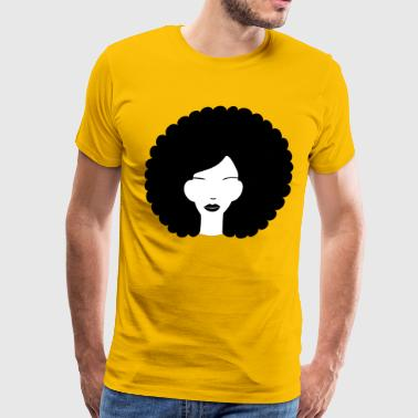 Curly haired summer girl - Men's Premium T-Shirt
