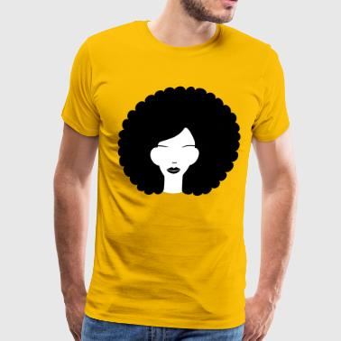 Curly Hair Girl Curly haired summer girl - Men's Premium T-Shirt