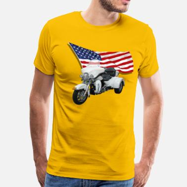 Trike With Flag - Men's Premium T-Shirt