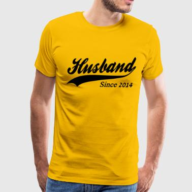1st Wedding Anniversary Husband Since 2014 - Men's Premium T-Shirt