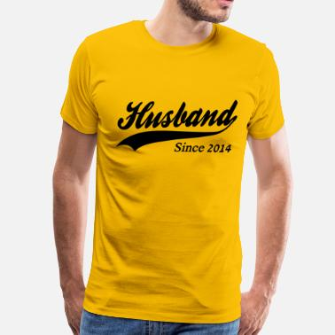 Together Since 2014 Husband Since 2014 - Men's Premium T-Shirt
