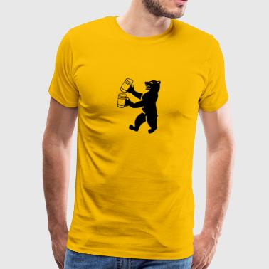 Bear beer - Men's Premium T-Shirt