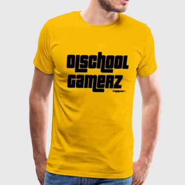 Olschool gamerz Black - Men's Premium T-Shirt