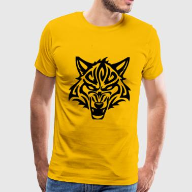 shirt wolf girl loves wolves - Men's Premium T-Shirt