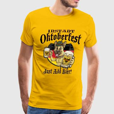 German Beer Oktoberfest Beer Hound - Men's Premium T-Shirt