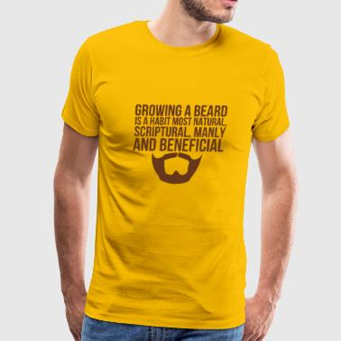 Beards Manly Beneficial - Men's Premium T-Shirt
