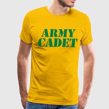 Fighting Stencil army cadet in stencil - Men's Premium T-Shirt