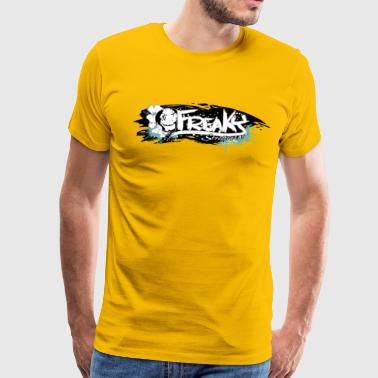 Freaky Streetwear Label print brush - Men's Premium T-Shirt