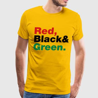 African Medallion Hip Hop Red, Black & Green. - Men's Premium T-Shirt