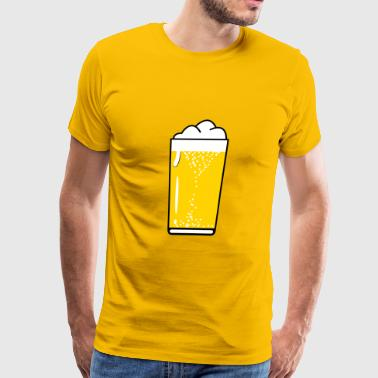 Beer Drinking beer drinking beer glass - Men's Premium T-Shirt
