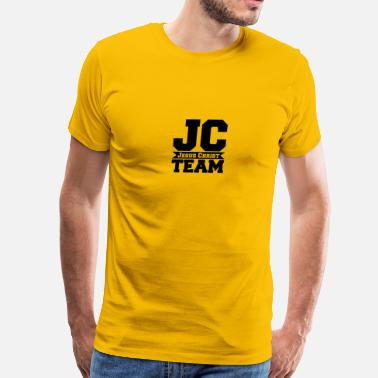 C&j J C team crew friends spruch text jesus christ tho - Men's Premium T-Shirt