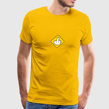 Warning sign yellow danger sign warning prohibitio - Men's Premium T-Shirt