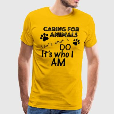 Caring For Animals - Men's Premium T-Shirt