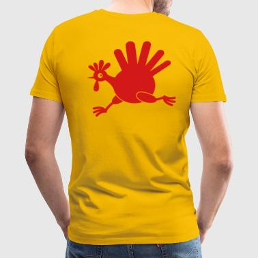 simple turkey on the run THANKSGIVING - Men's Premium T-Shirt