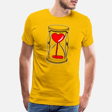 Hourglass Heart in the hourglass Love is transient gift - Men's Premium T-Shirt