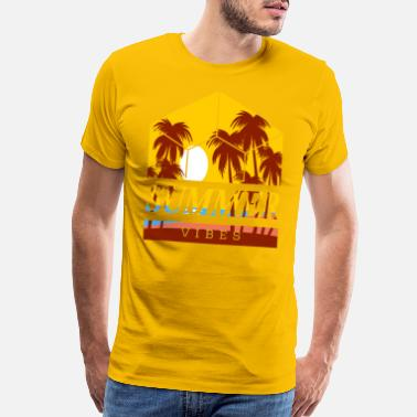 Summer Fairy Tale Summer fairies Vibes palm trees gift - Men's Premium T-Shirt