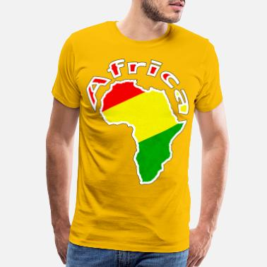 Green And Gold Africa - red gold green - Men's Premium T-Shirt