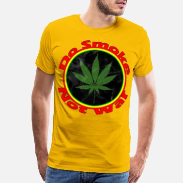Dreadlock Do Smoke Not War - red gold green - Men's Premium T-Shirt