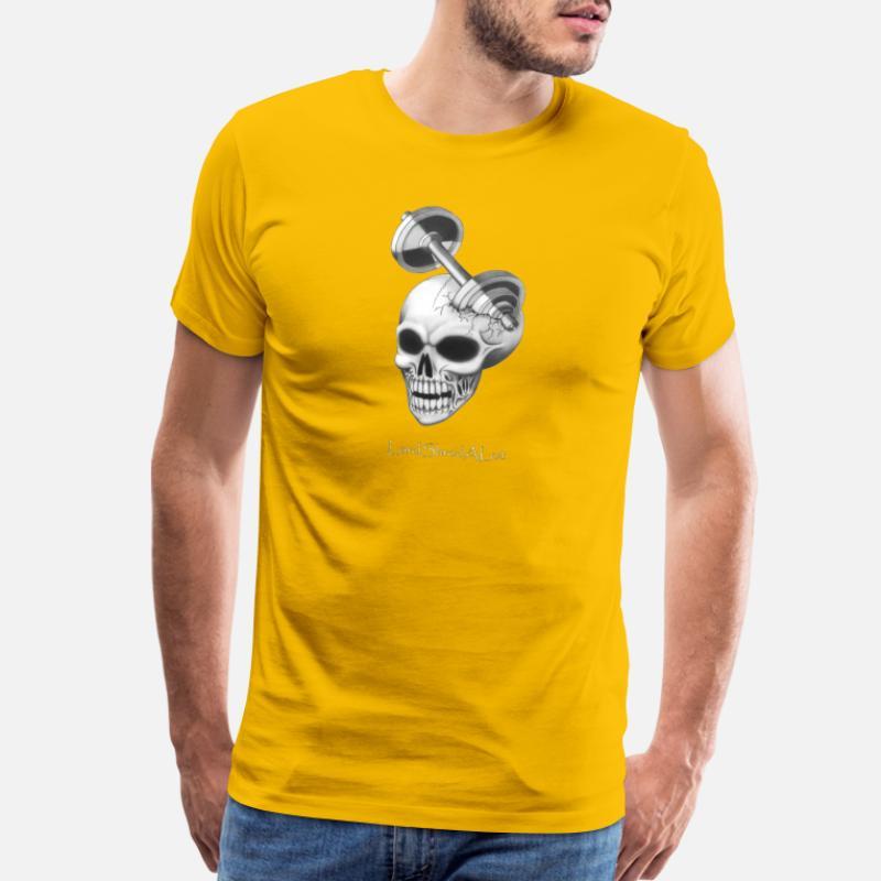 cb9d431a3c4f0 Shop Fitness Skull T-Shirts online   Spreadshirt