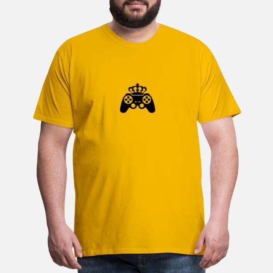 Gamer king Crown true controller logo King 8 bit Men's