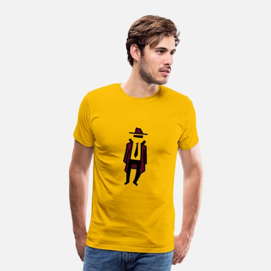 Agent T-Shirts - Hidman - Men's Premium T-Shirt sun yellow