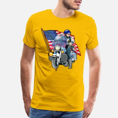 Police Patriotic - Men's Premium T-Shirt