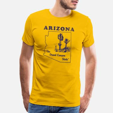 Phoenix Arizona, The Grand Canyon State Vintage Design - Men's Premium T-Shirt