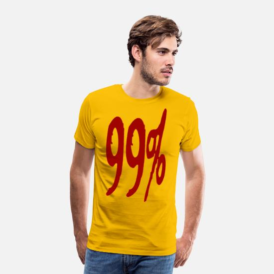 Activist T-Shirts - 99% - Men's Premium T-Shirt sun yellow
