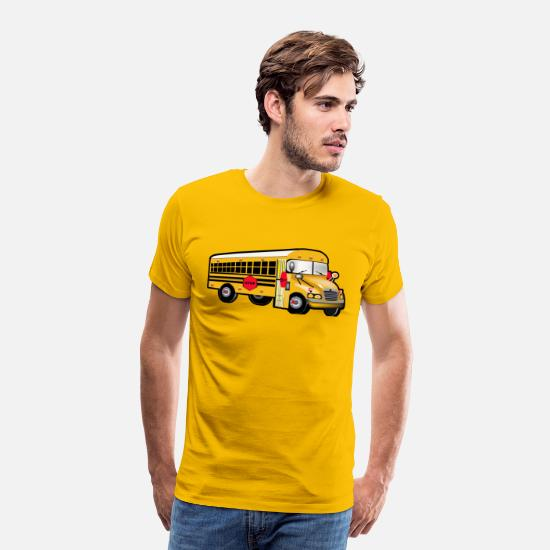 Bus T-Shirts - School Bus Driver Truck Driver School Bus T shirt - Men's Premium T-Shirt sun yellow