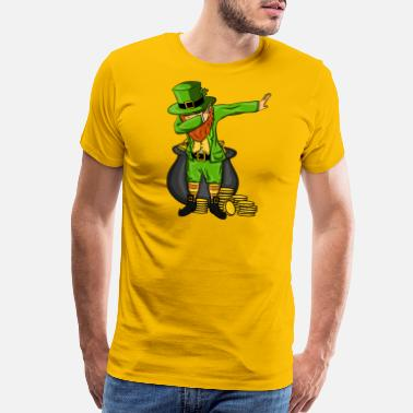 St Patricks Day Leprechaun Dabbing Dance Designs - Men's Premium T-Shirt